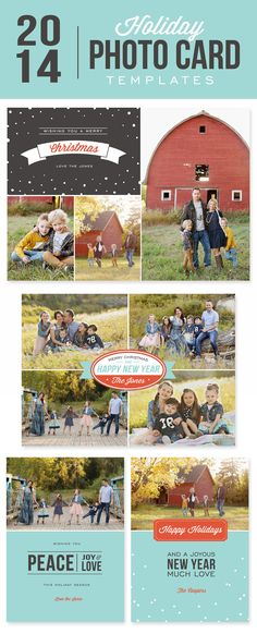 DIY Photo Cards with Digital Templates // Creating your own, personalized holiday cards is easy with these simple to use premade digital templates!