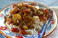 Moroccan tangine with apricots and honey. A nice lamb recipe that includes garlic!
