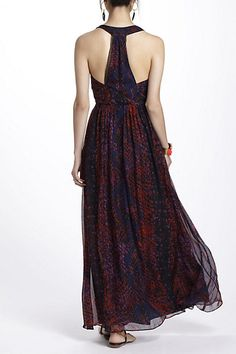 Someone invite me to a formal event, stat.  [Seeped Sinopia Maxi Dress - Anthropologie.com]