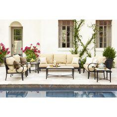 Shop Allen + Roth Pardini Oil Bronze Aluminum Strap Seat Patio Sofa At  Lowes.com