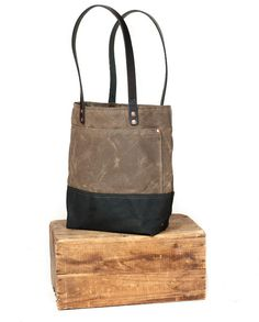 Waxed Canvas Totes.