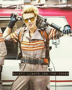 Safety lights are for dudes. ____________________ #whoyagonnacall #ghostbusters…