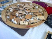 Birch buttons at the Treacle Market, Macclesfield
