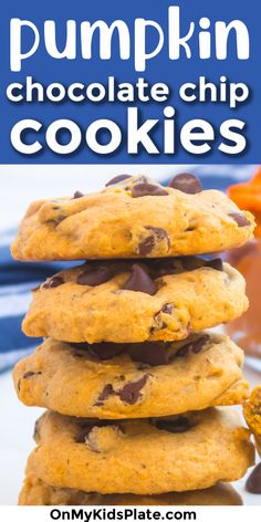 These are the Best Ever Pumpkin Chocolate Chip Cookies! Soft and easy cookies everyone loves! #pumpkincookies #chocolatechipcookies #pumpkinspice #pumpkindesserts Pumpkin Cookie Recipe, Pumpkin Dessert, Pumpkin Spice, Chocolate Whoopie Pies, Pumpkin Chocolate Chip Cookies, Cookies Soft, Yummy Cookies, Best Dessert Recipes, Fun Desserts