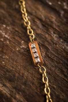 $28 Brass and Rhinestone #Bracelet on BourbonandBoots.com