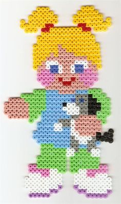 Cute little perler beads girl by Annamaria V. - Perler® | Gallery