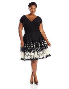 S.L. Fashions Women's Plus-Size Party Dress: Amazon Fashion