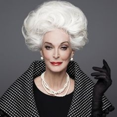 Repeat After Us: Grey Hair Can Be Gorgeous, 82 year-old model Carmen Dell'Orefice.