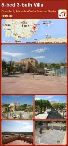 5-bed 3-bath Villa in Crevillent, Alicante (Costa Blanca), Spain ►€249,000 #PropertyForSaleInSpain