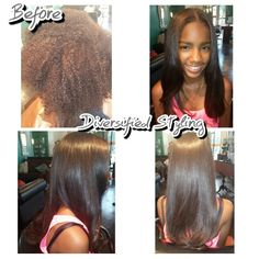 Before and after silk press and straighten Silk Press, Awesome Bedrooms, Straightener, Bedroom Ideas, Hair, Strengthen Hair, Dorm Ideas