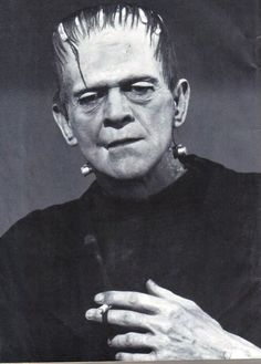 Boris Karloff as Frankenstein ... smoking?!