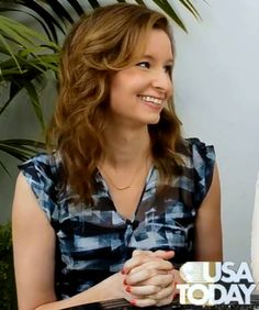 Lennon Parham from the new NBC series, 'Best Friends Forever' interviewed with USA Today spotted wearing London Manori Bar Collection - Gold Bar Necklace.