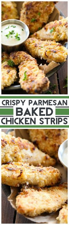 Crispy Parmesan Baked Chicken Strips ~ This chicken is cooked to perfection. The flavor is SO amazing! Turkey Dishes, Turkey Recipes, Meat Recipes, Chicken Recipes, Cooking Recipes, Healthy Recipes, Parmesan Recipes, Recipe Chicken, Salad Recipes