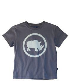 5aeb076556 Toobydoo Camp Buffalo Rhino T-Shirt with rubber Rhino silhouette print
