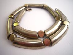 Vintage necklace sterling silver 9K gold hand by Fleagleeattic
