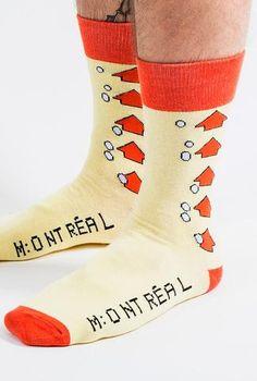 Retro MTL Bus Transfer Socks - Main and Local Montreal, Socks, Retro, Fun, Collection, Fashion, Stockings, Fin Fun, Moda