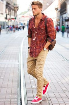 cool casual look in khakis
