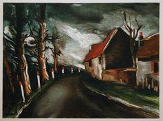 Maurice de Vlaminck, The Longny Road (1953)