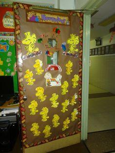snoopy door displays back to school ideas