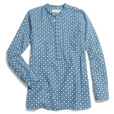 92e185a034c8 Madewell Chambray Floralstamp Popover Chambray, Madewell, Shirt Blouses,  Summer Heat, Warm Weather