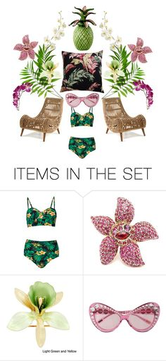 """""""tropical fantasy"""" by pgarmhausen ❤ liked on Polyvore featuring art, etsy, giardino and palmbeachstyle"""