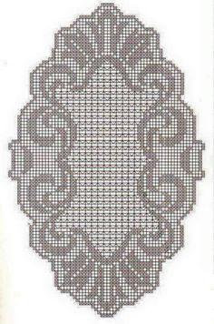 Kira scheme crochet: Several small tablecloth Stitch Crochet, Filet Crochet Charts, Crochet Cross, Crochet Home, Thread Crochet, Crochet Stitches, Crochet Table Runner, Crochet Tablecloth, Crochet Doilies