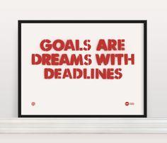 Making goals help us accomplish great things