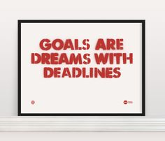 Making goals help us accomplish great things