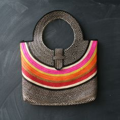 Fab.com | Cana Flecha Envelope Bag.  love the pop of color in the handbag.  women's fashion and accessories.  style.