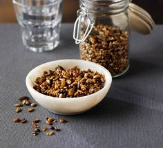 For a healthy snack nibble on this mix of sunflower, pumpkin and linseeds, or sprinkle on salads and soups