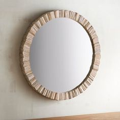 Nice for PR Coastal living calls for the natural beauty of organic elements, and with driftwood this realistic framing our generously sized round mirror, it will look like you personally collected each piece during long walks on the beach. Unique Bathroom Mirrors, Coastal Mirrors, Bathroom Sets, Bedroom Mirrors, Rustic Mirrors, Guest Bathrooms, Chic Bathrooms, Wall Mirrors, Bathroom Colors