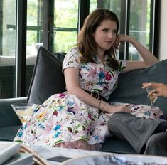 """Steal Anna Kendrick's Pretty Floral Dress From """"A Simple Favor"""" Floral Gown, White Floral Dress, Older Women Fashion, Ladies Fashion, Film Fashion, Celebrity Style Guide, Lace Ball Gowns, Anna Kendrick, Victoria Dress"""