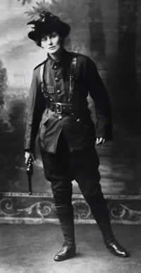 Constance Markievicz (née Gore-Booth) - Amazingly brave and beautiful Irish rebel, suffragist, artist, & leader (among other things).