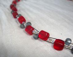 Rote Würfel Beaded Bracelets, Necklaces, Orange, Jewelry, Malachite, Glass Beads, Braid, Chain, Schmuck