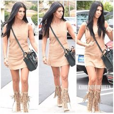 Suede. - Kourtney Kardashian July 2015