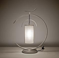Osaka Lamp: Julie Girardini and Ken Girardini: Metal Desk Lamp - Artful Home Artwork Lighting, Unique Lighting, Home Decor Lights, Light Decorations, Luminaire Design, Lamp Design, Lighting Concepts, Lighting Design, Desk Light