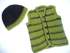 Free pattern for crochet vest. I'm imagining matching ones for Emmett & Brienne. :D