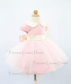 Dusty Rose Cap Sleeve Pageant Dress Infant Thanksgiving by PLdress