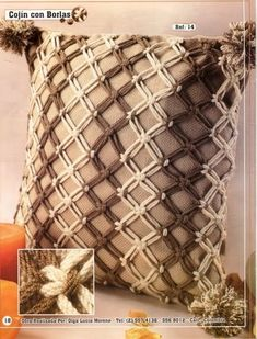 Macrame Design, Macrame Art, Macrame Projects, Crochet Projects, Crochet Pillow Patterns Free, Macrame Chairs, Boho Cushions, Macrame Curtain, Crochet Decoration