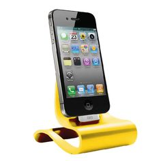 Yellow Smart Dock For iPhone 4/4S, iPad, And iPod.