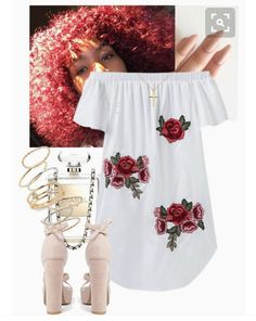 A fashion look from March 2017 featuring Boohoo sandals, BP. rings and Blue Nile pendants. Browse and shop related looks. Dope Outfits, Swag Outfits, Girly Outfits, Cute Casual Outfits, Teen Fashion, Fashion Outfits, Teenager Outfits, Up Girl, Look Cool