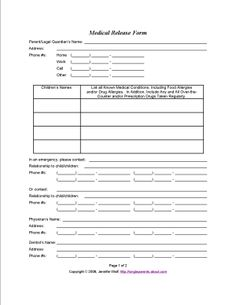 Anesthesia Consent Form Template  Consent Form    Medical