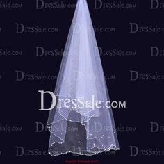 Elegant Two-tier Wedding Veil with Glistening Sequins