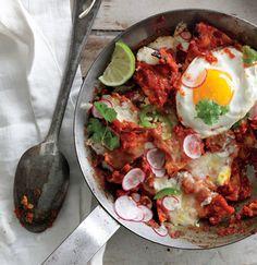 Chilaquiles with Fried Eggs Recipe    Epicurious.com