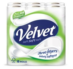 Velvet Three Layers Toilet Paper