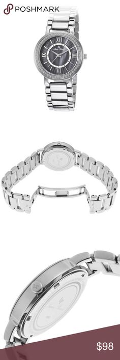 Lucien Piccard Alice Ladies Watch 11902-11MOP Lucien Piccard Alice Ladies Watch 11902-11MOP  item# 272943642923  100% Authentic Lucien Piccard!  Buy with confidence!  • MSRP: $495.00  • Style: 11902-11MOP  Features:  Stainless steel case with a stainless steel bracelet. Fixed stainless steel crystal-set bezel. Black mother of pearl dial with silver-tone hands and index hour markers. Roman numerals mark the 3, 6, 9 and 12 o'clock positions. Minute markers around an inner ring. Dial Type…
