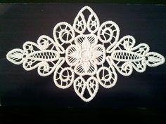 Crocheted Doily, Romanian Point Lace Crochet Doily, Ivory, Floral Pattern, x Crochet Cord, Crochet Motif, Crochet Doilies, Crochet Lace, Crochet Stitches, Doily Patterns, Macrame Patterns, Crochet Patterns, Dress Patterns