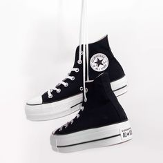 tenis converse mujer negros
