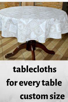 tablecloths Lovely and practical.Beautiful gift for your table! Kitchen Tablecloths, Tablecloth Size Chart, Oval Tablecloth, Dog Cushions, Bed Pillows, Personalised Placemats, Christmas Table Cloth