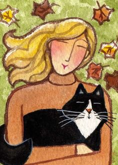If I had longer hair, this would be me and my kitty.